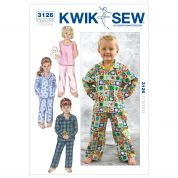 Kwik Sew Toddlers Sewing Pattern 3126 Pyjama Pants & Tops