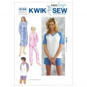 Kwik Sew Ladies Easy Sewing Pattern 3144 Pyjama Pants, Tops & Nightgown