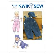 Kwik Sew Baby Sewing Pattern 3145 Dungarees & Hats