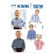 Kwik Sew Toddlers Sewing Pattern 3146 Shirts & Blouses Tops
