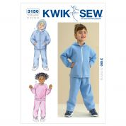 Kwik Sew Toddlers Sewing Pattern 3150 Tracksuits & Hoodies