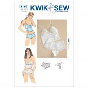 Kwik Sew Ladies Sewing Pattern 3167 Camisoles & Panties Lingerie