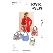 Kwik Sew Accessories Easy Sewing Pattern 3171 Fashion Totes & Hand Bags