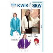 Kwik Sew Ladies Easy Sewing Pattern 3173 Jacket, Shawl & Hat