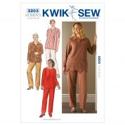 Kwik Sew Ladies Plus Size Easy Sewing Pattern 3203 Trouser Pants & Tops