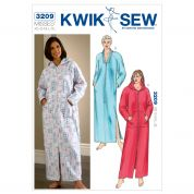 Kwik Sew Ladies Easy Sewing Pattern 3209 Robes Lounge & Sleep Wear