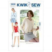 Kwik Sew Ladies Sewing Pattern 3232 Skort, Top & Cardigan
