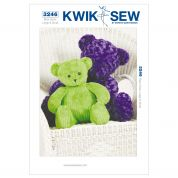Kwik Sew Crafts Sewing Pattern 3246 Teddy Bear Toys