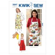 Kwik Sew Ladies & Girls Easy Sewing Pattern 3247 Aprons & Oven Mitts