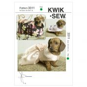 Kwik Sew Pets Sewing Pattern 3311 Pet Coats, Dress & Carrier