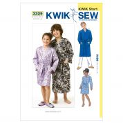 Kwik Sew Childrens Unisex Easy Learn to Sew Sewing Pattern 3329 Dressing Gowns