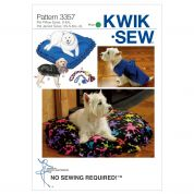 Kwik Sew Pets Easy Sewing Pattern 3357 Pet Cushions, Coats & Toys