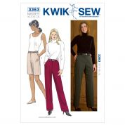 Kwik Sew Ladies Sewing Pattern 3363 Smart Trouser Pants & Shorts
