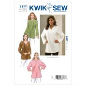 Kwik Sew Ladies Easy Sewing Pattern 3377 Loose Fit Tunic Tops