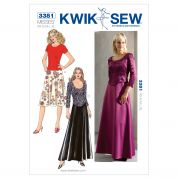 Kwik Sew Ladies Sewing Pattern 3381 Tops & Skirts