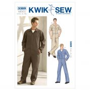 Kwik Sew Men's Sewing Pattern 3389 Workwear Cover Ups Overalls