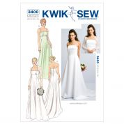 Kwik Sew Ladies Sewing Pattern 3400 Wedding Dress & Bolero