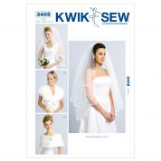 Kwik Sew Ladies Easy Sewing Pattern 3405 Bridal Wedding Veils & Wraps
