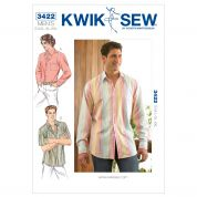 Kwik Sew Mens Sewing Pattern 3422 Long & Short Sleeve Shirts