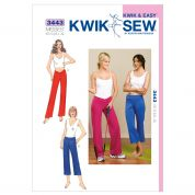 Kwik Sew Ladies Sewing Pattern 3443 Sportswear Gym & Yoga Pants