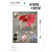 Kwik Sew Pets Easy Sewing Pattern 3465 Dog Coats & Dresses with Appliques