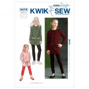 Kwik Sew Childrens Easy Sewing Pattern 3476 Tunic Tops & Leggings