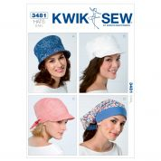 Kwik Sew Ladies Sewing Pattern 3481 Summer Hats