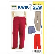 Kwik Sew Ladies Plus Size Easy Learn to Sew Sewing Pattern 3482 Pants & Shorts