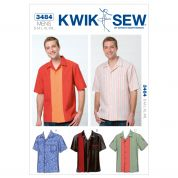 Kwik Sew Mens Sewing Pattern 3484 Shirt Tops