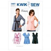 Kwik Sew Ladies Maternity Sewing Pattern 3487 Tops with Side Ties