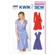 Kwik Sew Ladies Sewing Pattern 3489 Fitted Wrap Dresses