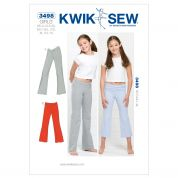 Kwik Sew Childrens Sewing Pattern 3498 Girls Gym & Sweat Pants