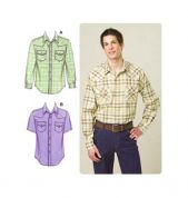 Kwik Sew Mens Sewing Pattern 3506 Long & Short Sleeve Shirts