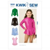 Kwik Sew Childrens Sewing Pattern 3508 Dancewear Leotards