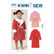 Kwik Sew Toddlers Sewing Pattern 3509 Dressing Gowns