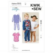 Kwik Sew Toddlers Easy Sewing Pattern 3510 Pyjama Pants & Tops