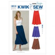 Kwik Sew Ladies Easy Sewing Pattern 3513 Skirts