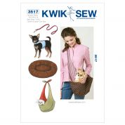 Kwik Sew Pets Sewing Pattern 3517 Harness, Leash, Bed & Carrier