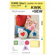 Kwik Sew Homeware Easy Learn to Sew Sewing Pattern 3525 Cushions & Pillowcases