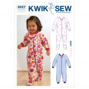 Kwik Sew Toddlers Sewing Pattern 3527 Sleepers Pyjamas Onesies