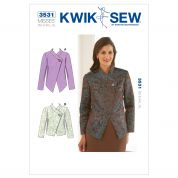 Kwik Sew Ladies Sewing Pattern 3531 Semi Fitted Jackets