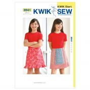 Kwik Sew Childrens Easy Learn to Sew Sewing Pattern 3541 Summer Skirts