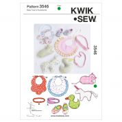 Kwik Sew Baby Easy Sewing Pattern 3546 Babies Bibs, Toys & Accessories
