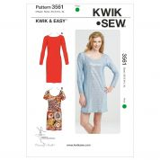 Kwik Sew Ladies Easy Sewing Pattern 3561 Simple Jersey Knit Dresses