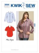 Kwik Sew Ladies Plus Size Sewing Pattern 3586 Shirts & Blouse Tops