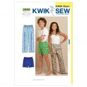 Kwik Sew Childrens Easy Learn to Sew Sewing Pattern 3589 Pyjama Bottoms Pants & Shorts