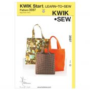Kwik Sew Accessories Easy Learn to Sew Sewing Pattern 3597 Hand Bag Shopper