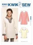 Kwik Sew Ladies Easy Sewing Pattern 3601 Pullover Tops & Tunics