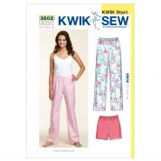Kwik Sew Ladies Easy Learn to Sew Sewing Pattern 3602 Pyjama Pants & Shorts