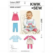 Kwik Sew Baby Easy Sewing Pattern 3607 Tops & Leggings